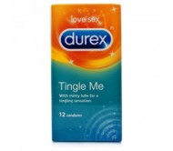 Durex Tingle Me Condoms Extra Lubricated & Cool (12 Condoms Pack)